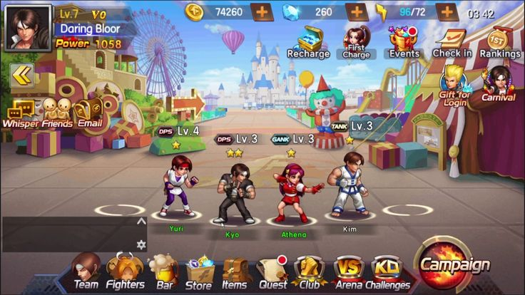 KOF 98 UM OL BRAWLER Game 1 - KOF'98 UM OL is a Free Android Classic fights combined with Collectible Card Multiplayer Game featuring an expansive roster of classic characters
