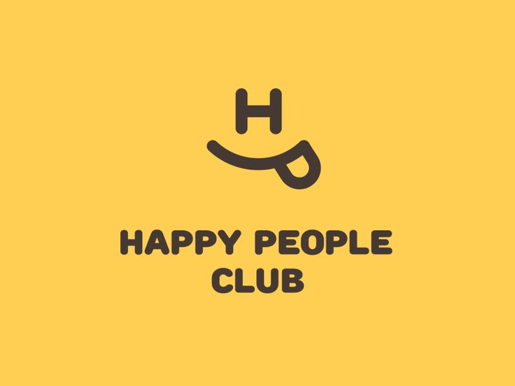 HAPPY PEOPLE CLUB  #happy #people #club #creative #logo #logoinspiration #logohungry #happypeopleclub #laugh #smile #goodness