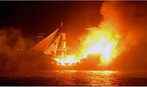'Armata'.  Every September numerous tourists visit the island of Spetses (Aegean sea) in order to watch the simulation of the burning of the Turkish flagship that the Greeks scuppered on September 8th 1822, during the Greek independence fight. http://www.house2book.com