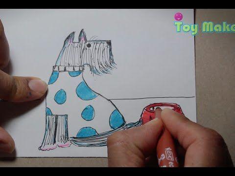 Como dibujar un perro lanudo fácil y rápido.