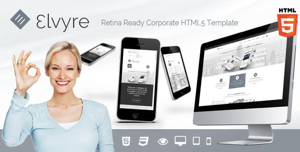 Elvyre is modern and clean corporate template with fuly responsive design and retina ready graphics. It has a wide range of features and comes with popular Revolution slider and isotope plugin. It is very easy to customize and comes with detailed documentation and top notch support.
