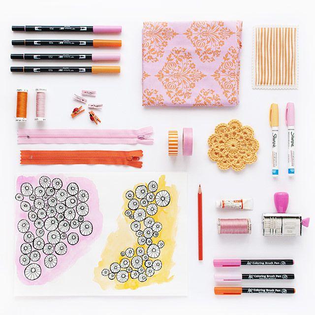 Moodboard Febrero - Inspiración en naranja y rosa