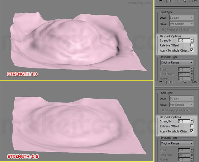 Learn how to simulate realistic water in 3ds max with the help of Flex modifier.