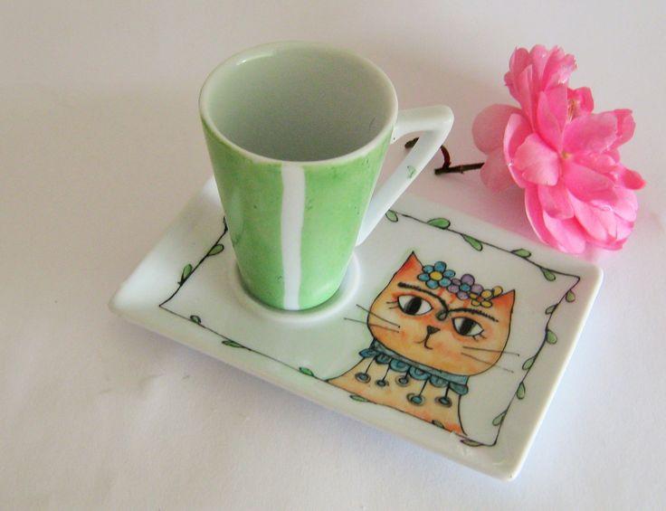 Tazza da caffè dipinta a mano : Stoviglie, bicchieri di eva-e-tabu