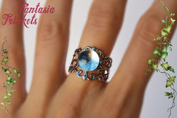 Sfera di cristallo re dei Goblin anello di FantasiaTrinkets