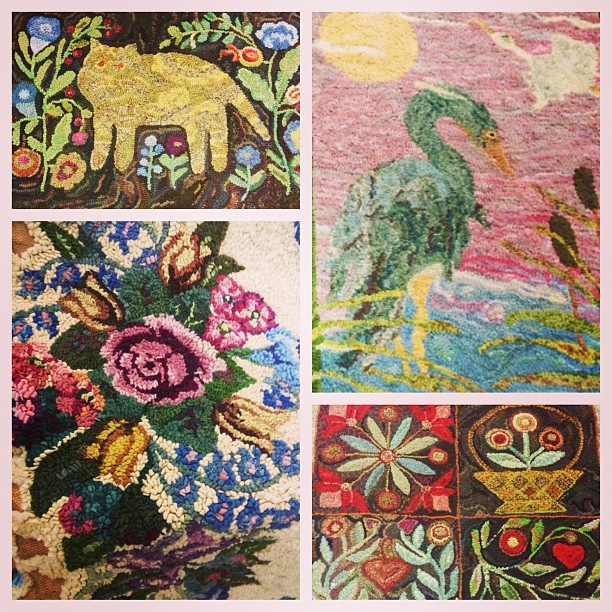 A Few Works By Lisanne Miller Fiber Artist Presented Art And History Of Rug Hooking During The Mississippi Arts Week