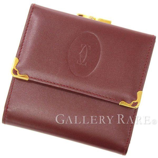 カルティエ 財布 マスト ドゥ カルティエ がま口三つ折り財布 L3000039 Cartier メンズ
