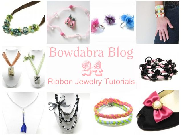 24 DIY Ribbon Jewelry Tutorials- necklaces, rings, belts, charms and bracelets.Bowdabra Ribbons, Bowdabra Tutorials, Bowdabra Blog, Hands Crafts Amazing, Diy Jewelry, Craft Projects, Diy Ribbons, Amazing Jewelry, 24 Hands Crafts