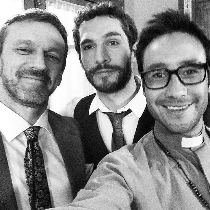 Federico Delia (Jorge) , Michel Noher (Nicolas) y Luciano Pereyra (Joaquin) backstage Esperanza Mia