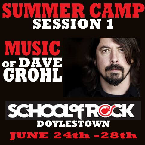 School of Rock presents the music of Dave Grohl #schoolofrock #davegrohl #summer #camp #doylestown #buckscounty #fun #musiclessons #kids