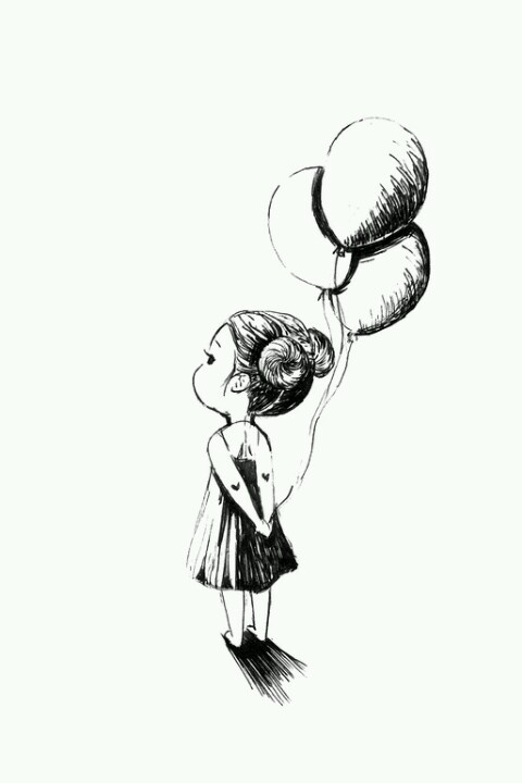 Balloons and a little girl...adorable.