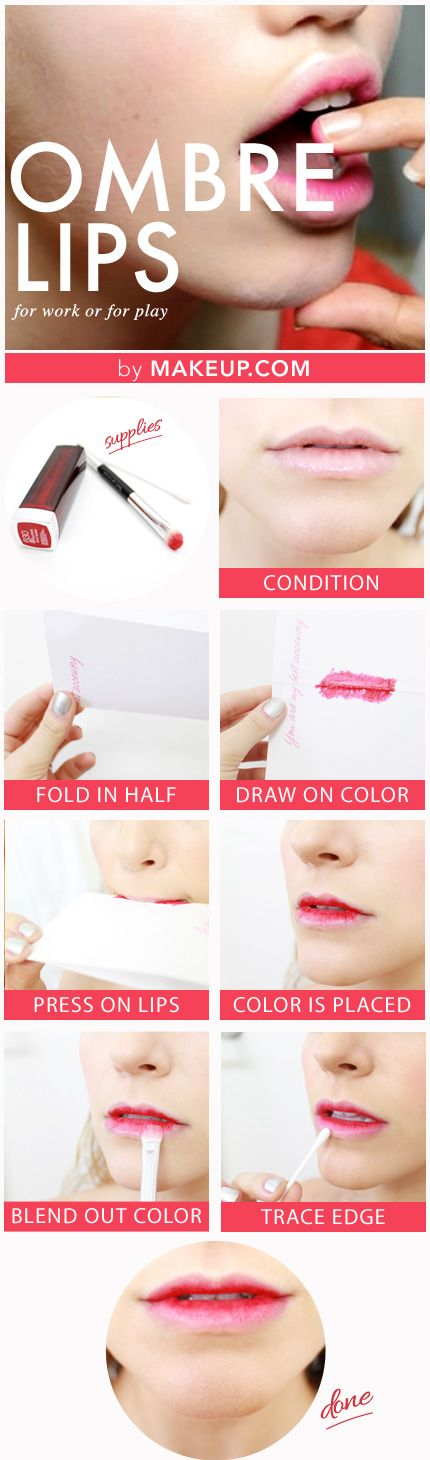 ombre lip tutorial....  notice i put this on my funny board...ombre does not have to be everywhere. This looks disgusting.