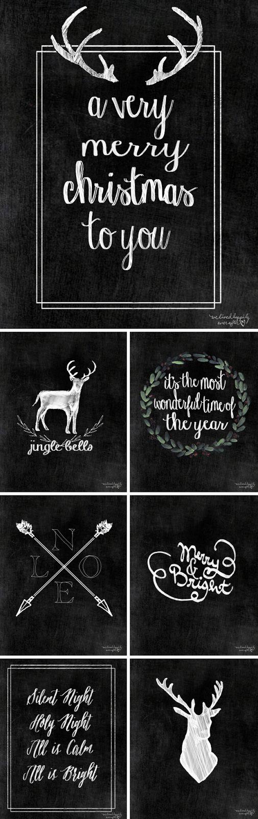 Weihnachsillustrationen zum Downloaden und ausdrucken / Christmas illustration printables