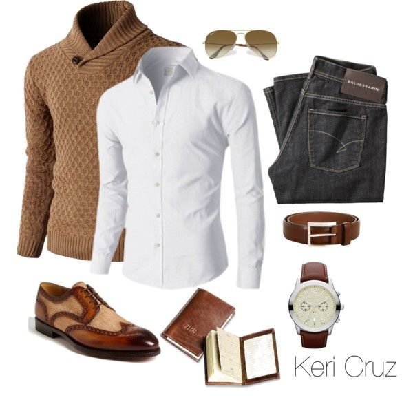 Distinguished by keri-cruz on Polyvore featuring MICHAEL Michael Kors, Ray-Ban, Baldessarini, Allen-Edmonds and Magnanni
