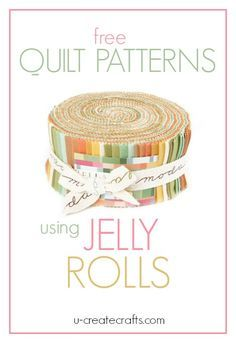 "What is a Jelly Roll in quilting terms? A Jelly Roll has forty 2½"" x 44″ strips of fabric. These forty strips are layered, rolled up tight, and tied with a bow. Jelly Rolls are wonderful and save so much time on cutting and coordinating fabrics! You can pretty much guarantee your quilt will turn …"