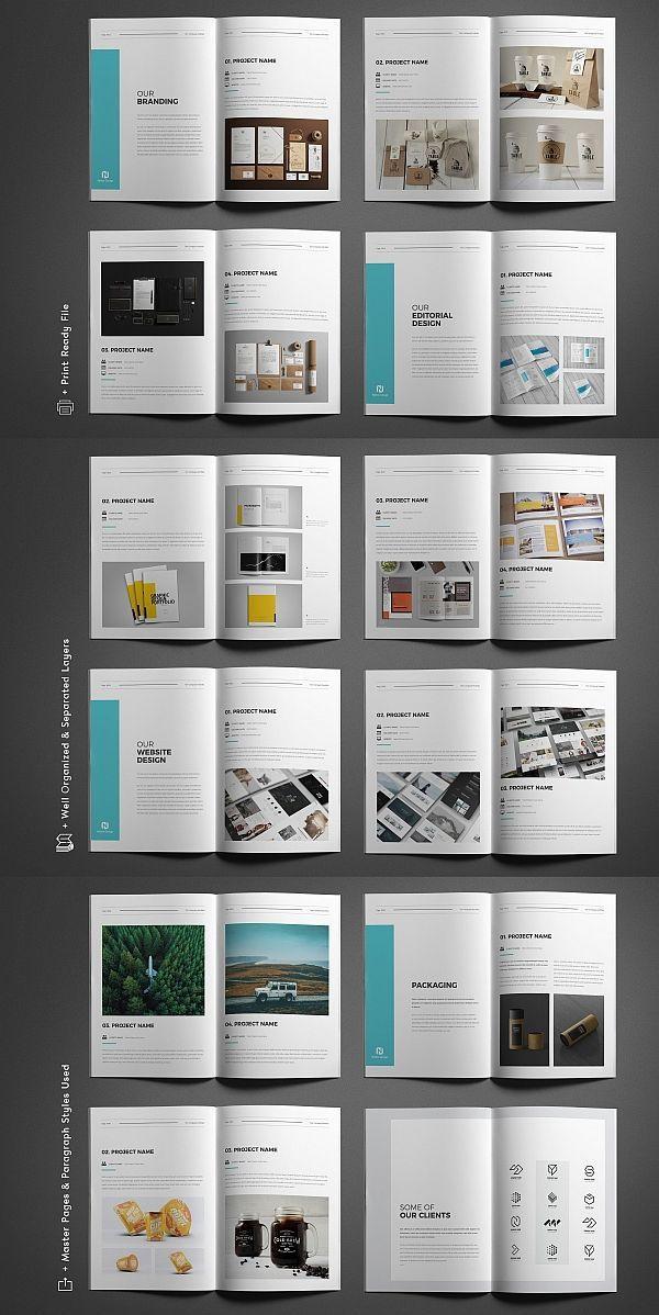 100+ Top Corporate Brochure Template Collections   Graphics