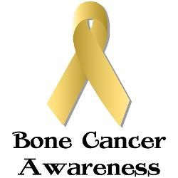 What color ribbon is for bone cancer