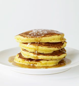 Cornmeal Buttermilk Pancakes: Recipe: bonappetit.com