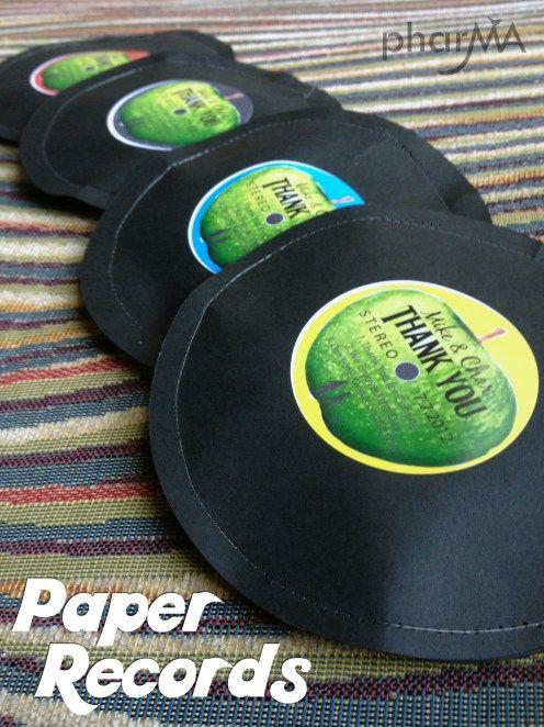 Paper Record Favors, DIY Beatles Favors