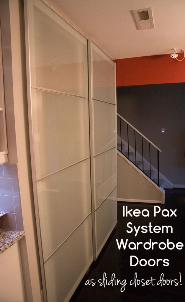 Using Ikea Pax Wardrobe System Doors As Sliding Closet
