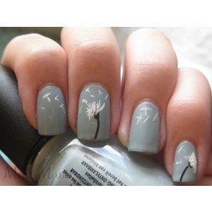 nail polish nail-polish-artNails Art, Nailart, Nails Design, Cute Nails, Flower Nails, Nails Polish, Dandelions Nails, Nail Art, Fingers Nails
