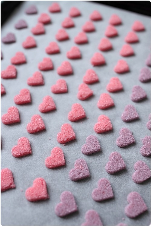 how to make decorative heart sugars