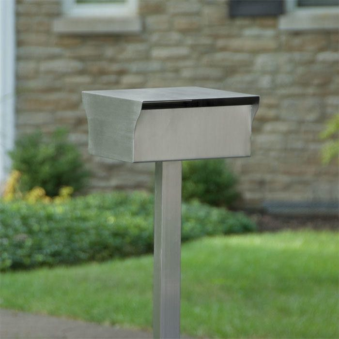 Bremerton Stainless Steel Mailbox And Post Set Brushed Stainless Steel Outdoor Stainless Steel Mailbox Brushed Stainless Steel Mailbox