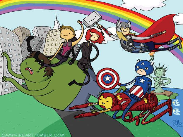 """The Adventurers   32 Mashups That Prove """"Adventure Time"""" Makes Everything Way More Awesome"""