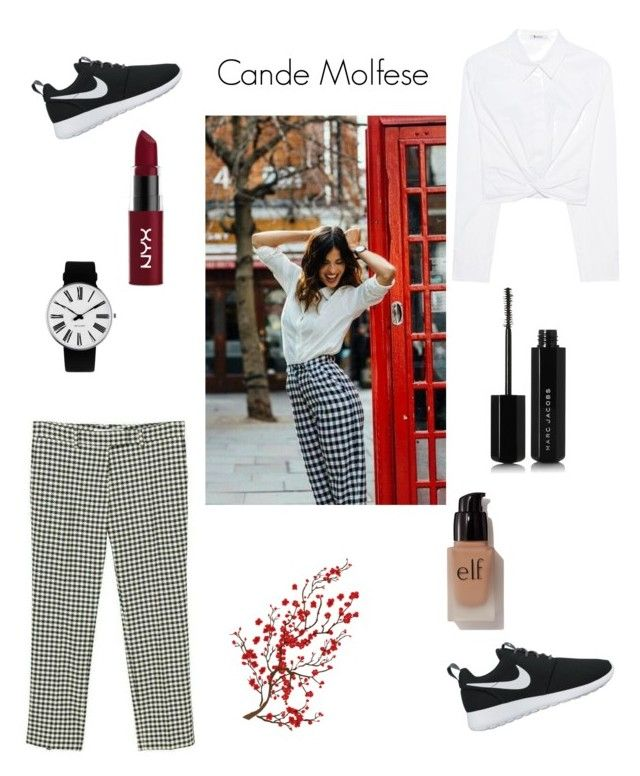 """""""Untitled #18"""" by pacaca-gemela on Polyvore featuring T By Alexander Wang, Rosendahl, NYX, NIKE, Brewster Home Fashions, e.l.f. and Marc Jacobs"""