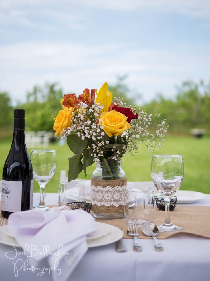 Detail photograph of the dinner table at Orchard Croft Boutique. What a gorgeous day to have an Orchard wedding. #JoshBellinghamPhotography