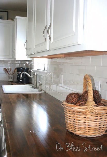 13 ways to transform your countertops without replacing them diy wood countertopskitchen - Diy Kitchen Countertop Ideas
