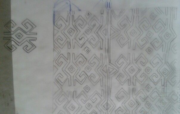 Drawing for sewing