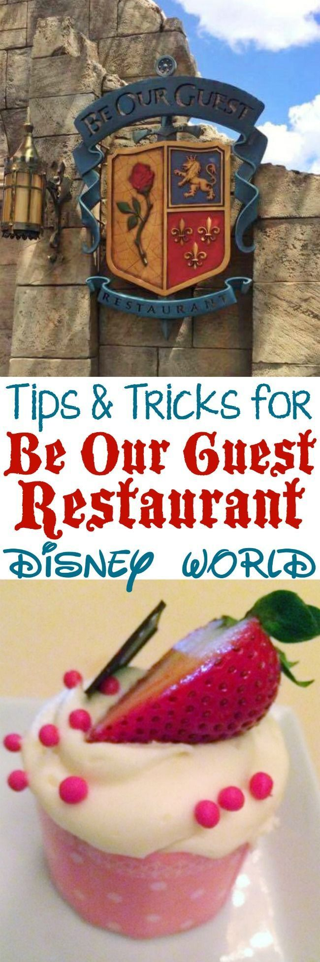 Tips and tricks for getting a reservation at Be Our Guest Restaurant at Disney World for Breakfast, Lunch or Dinner!