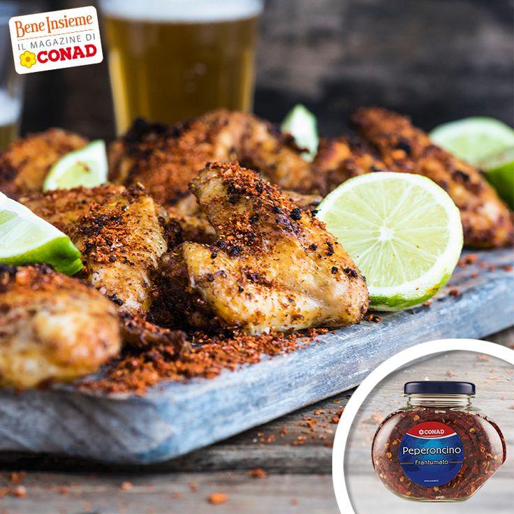 Ti piacciono le ali di pollo? Preparale con i sapori stuzzicanti della nostra ricetta al peperoncino e lime e clicca sull'immagine per la ricetta di Conad Bene Insieme! :)
