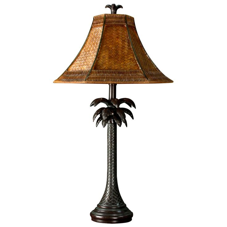 Style Craft Tropical Table Lamp - Get out the tiki torches and get the party started with the Style Craft Tropical Table Lamp. This table lamp, part of the Verdi Palm collection, featu...
