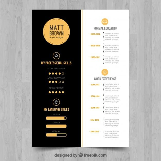 Sophisticated cv template Free Vector