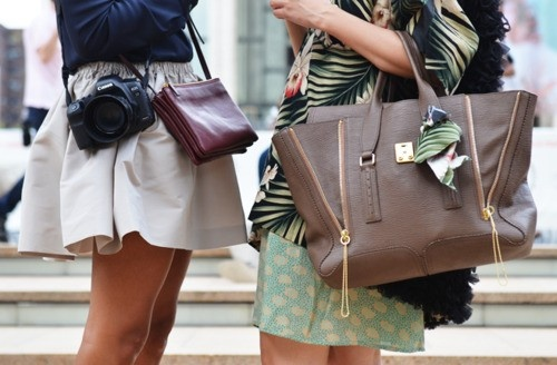 ·Phillip Lim, Fashion, Minis Skirts, Street Style, Brown Bags, Cameras Bags, Bags Lady, Beautiful Style