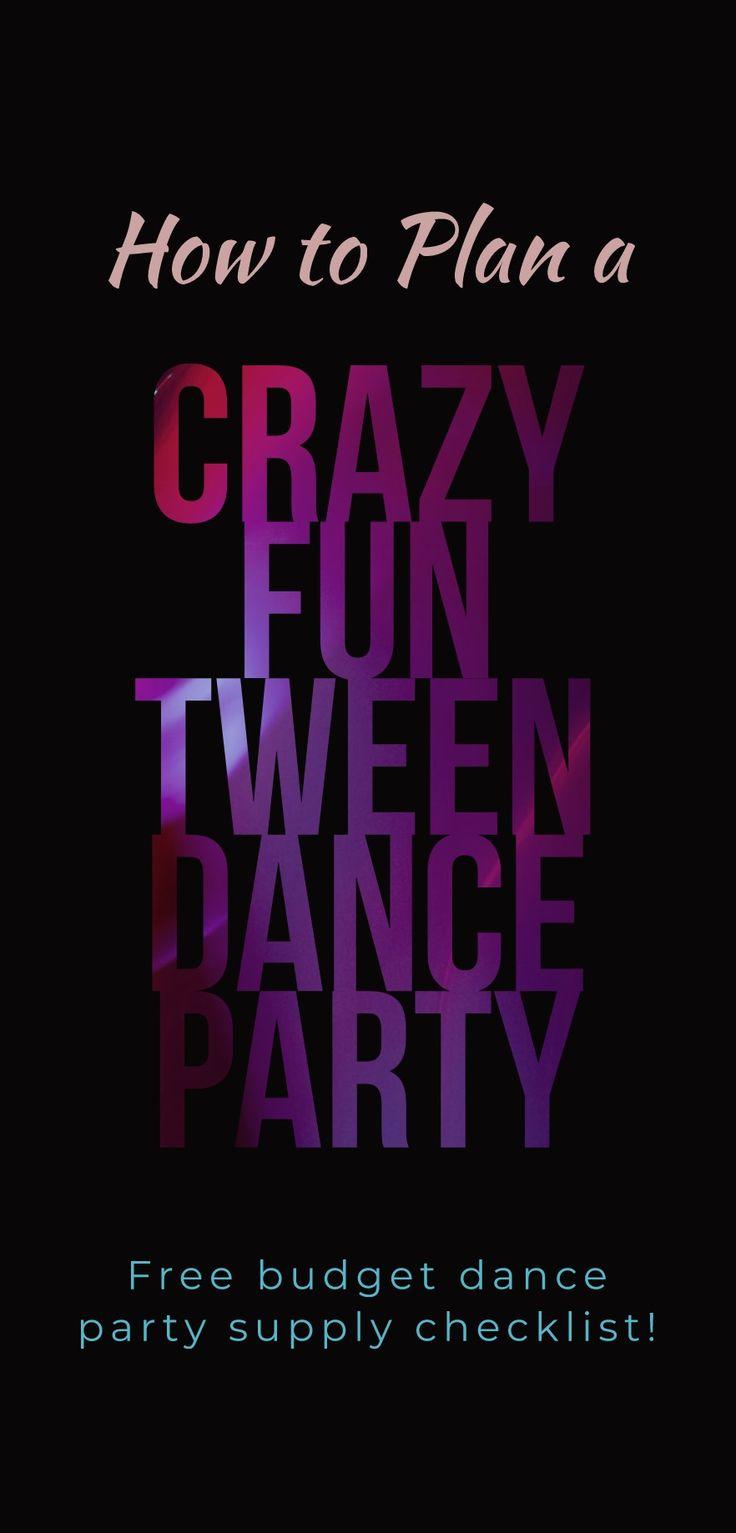 How to plan a fun tween dance party!