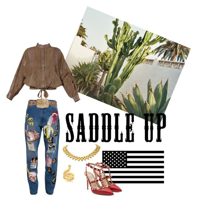 Saddle up by traversrt on Polyvore featuring polyvore, fashion, style, Valentino and Ashish