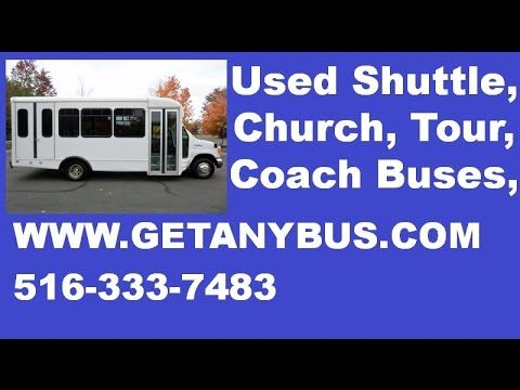 Used Bus For Sale | 2006 Ford E450 Starcraft Wheelchair Shuttle Used Bus For Limousine Service - It has 34,473 miles on it. This Used bus for sale has AM/FM/CD STEREO system. Wheelchair Safety Interlock. Advanced Fast Idle System. Dual enterance rails with vanity panels. Safety equipment is located throughout the bus including seatbelts for all passengers. For more information on our used bus for sale call CHARLIE at 516-333-7483 or visit us at www.GETANYBUS.com