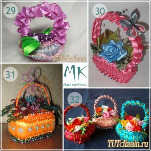 How to make DIY ribbon wrapped soap flower basket | DIY Tag
