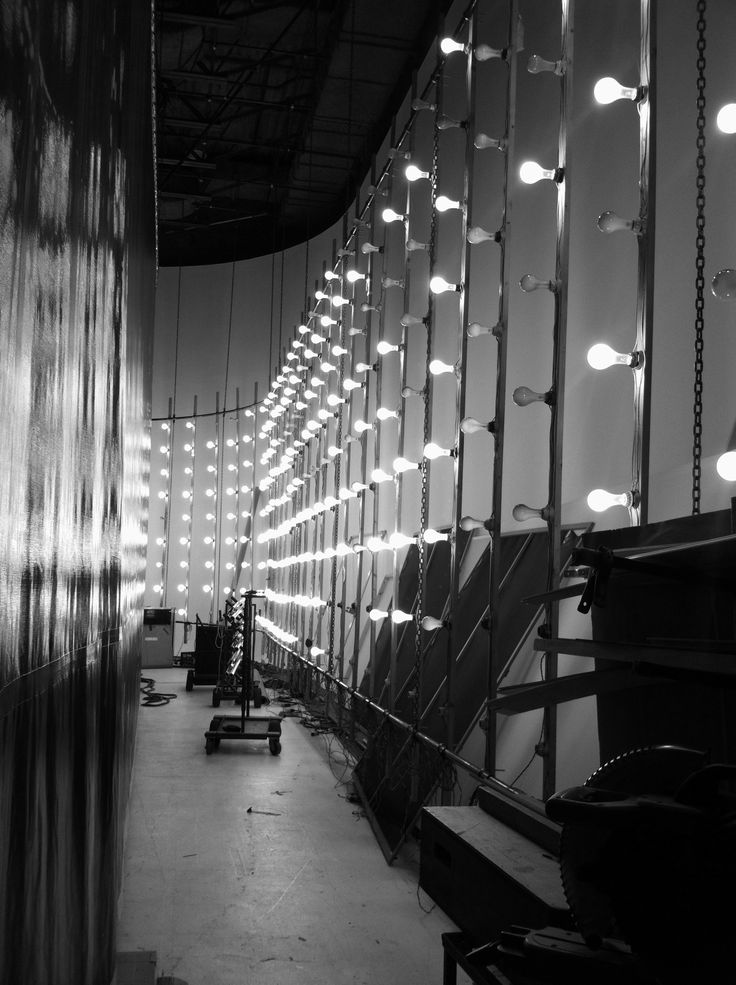 Behind the set at Broadway Stages, Greenpoint