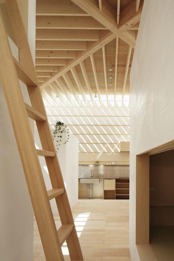 interior wooden ladder