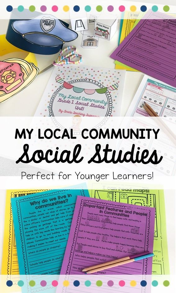 "This is a complete unit all about 'Local Community and Community Helpers"" for the new Ontario #socialstudies curriculum.  It's also great for any Canadian elementary classroom. This full unit includes hands-on activities, poems, charts, whole-class activities, and a fun final project. Grade for Grade 1 in Canada, but  works for any first or second grade classroom easily."