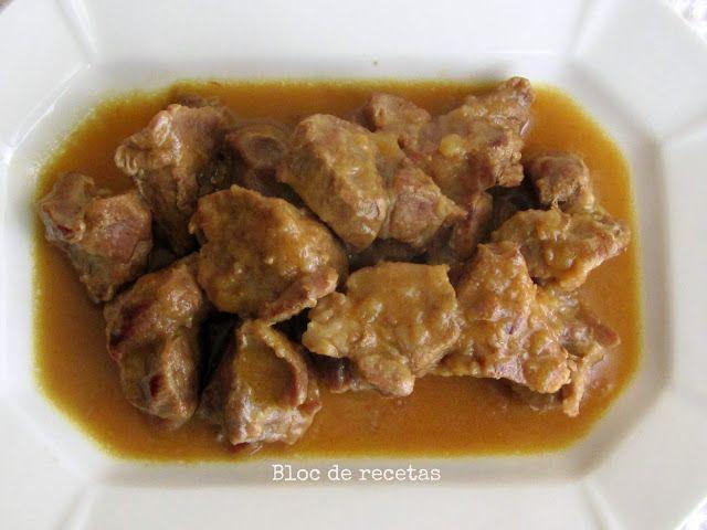 Bloc de recetas: Carne estofada con cebolla y mostaza a la miel
