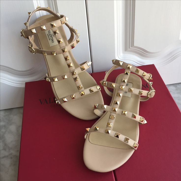 Valentino woman shoes rockstuds flats 4 laps sandals