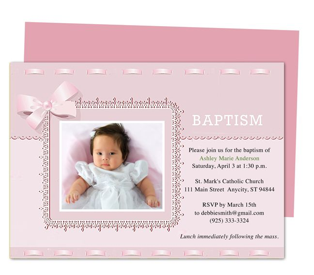 Beautiful Dana Printable DIY Baby Baptism Invitation Templates Editable With Word,  Publisher, Apple IWork Pages Awesome Design