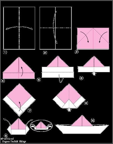 Оригами шляпа для детей