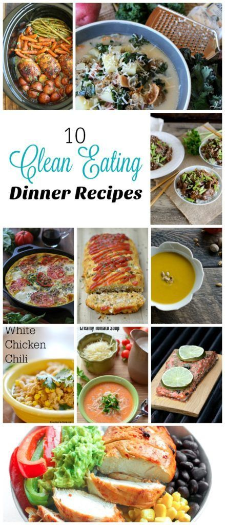 10 of my favorite clean eating dinner recipes from my favorite bloggers. Comfort food doesn't mean unhealthy food! You'll love 'em!