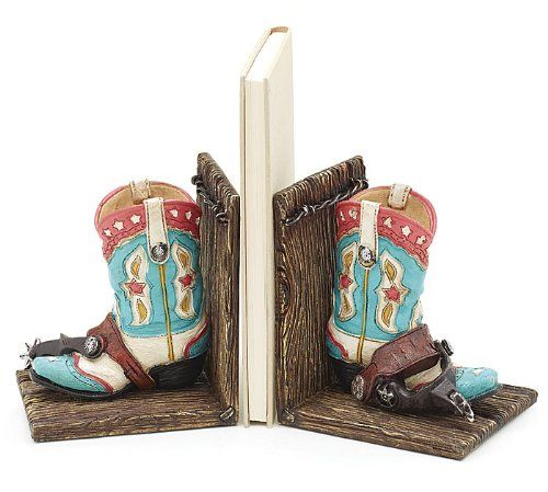 Western Cowgirl Boot Bookends Great Decor For Western Room